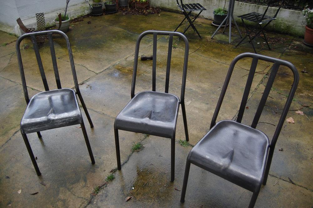 chaises lustrées à la zebraline